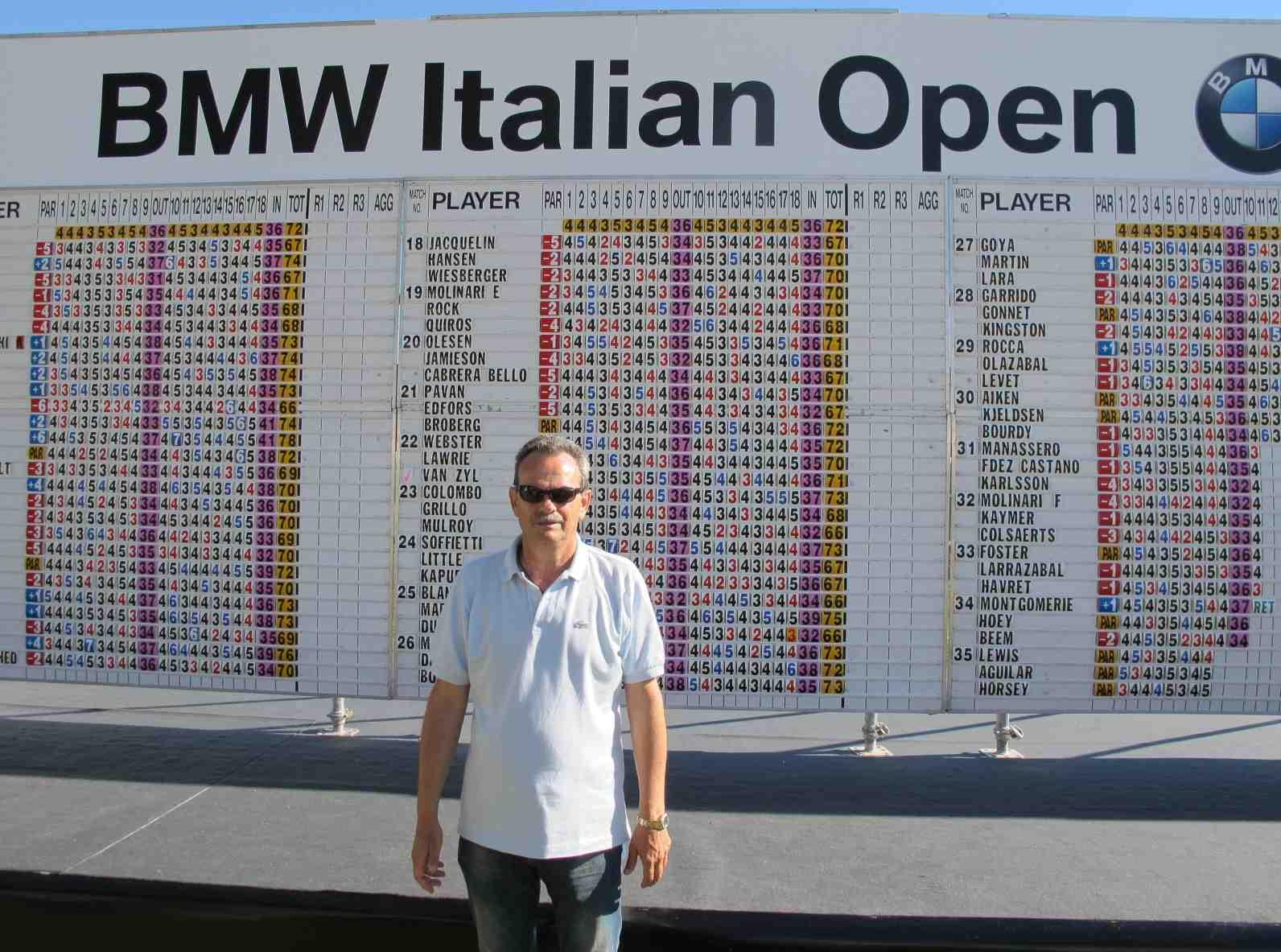 Armando Pintus durante il BMW Open d'Italia 2012 al Royal Park I Roveri di Fiano Torinese - Settembre 2012