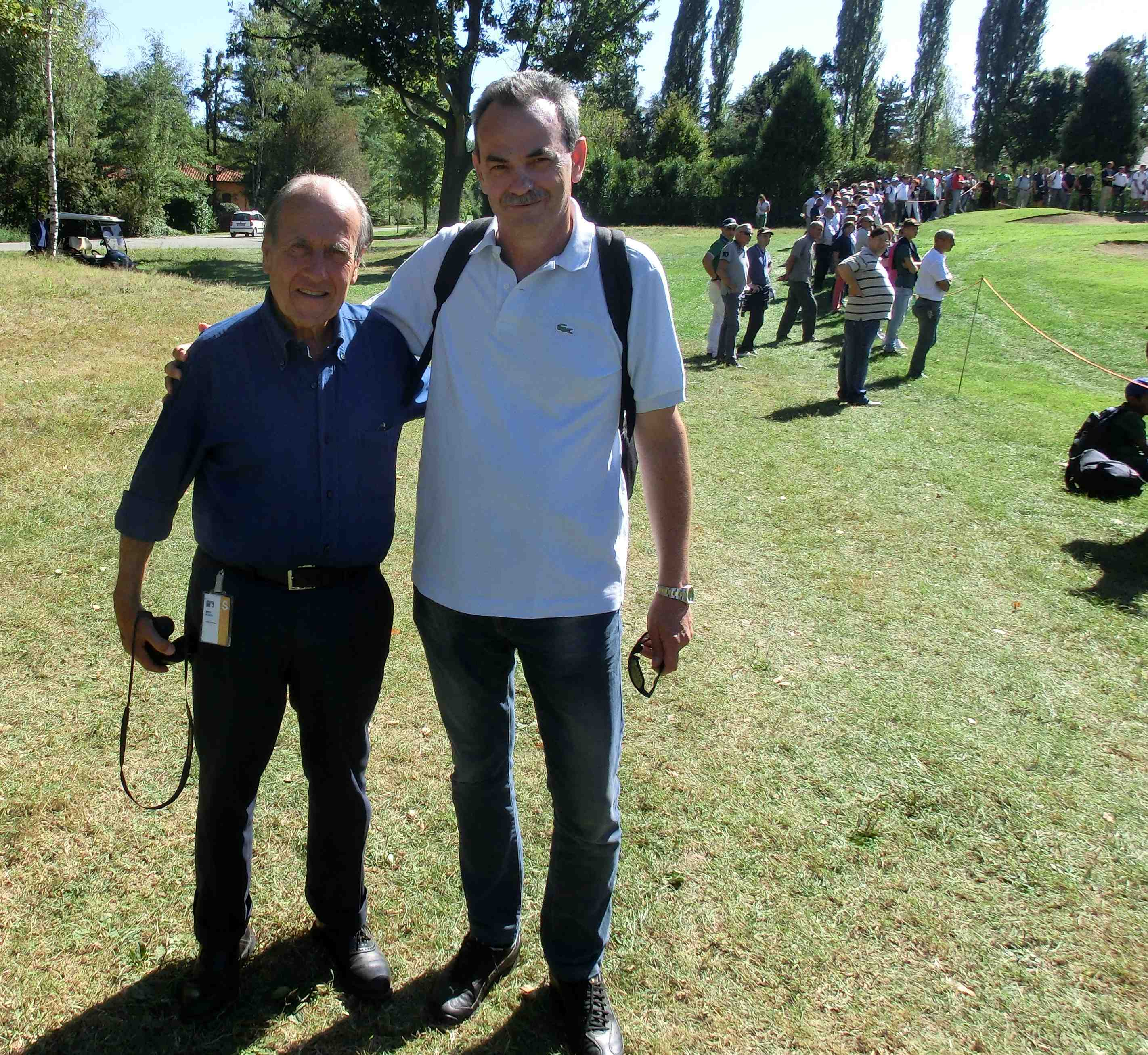 Con Franco Chimenti, Presidente della Federazione Italiana Golf, durante il BMW Open d'Italia 2012 al Royal Park I Roveri di Fiano Torinese - Settembre 2012