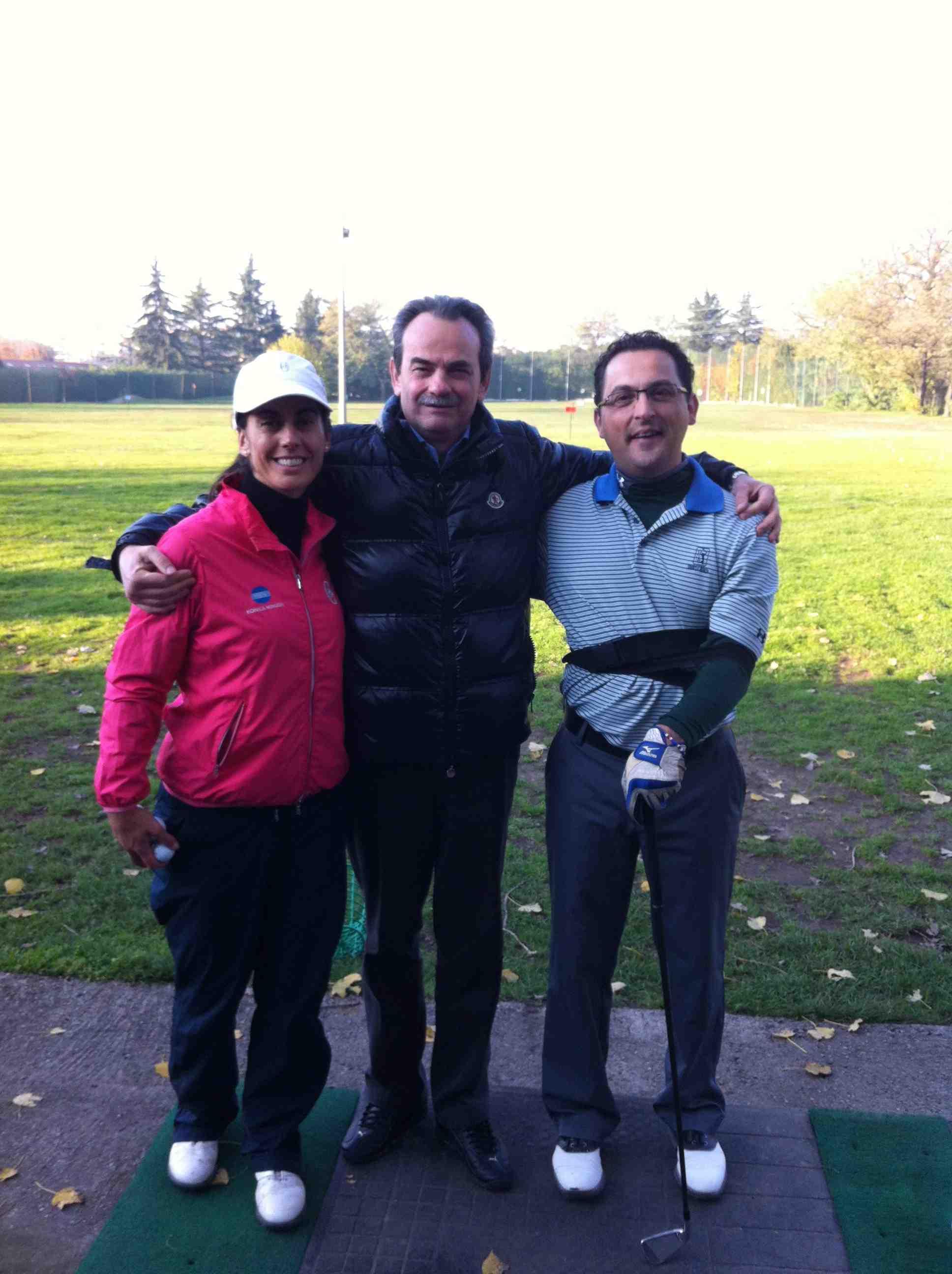 Con Stefania Croce e Angelo Ardissone sul durante un momento di pausa in campo pratica