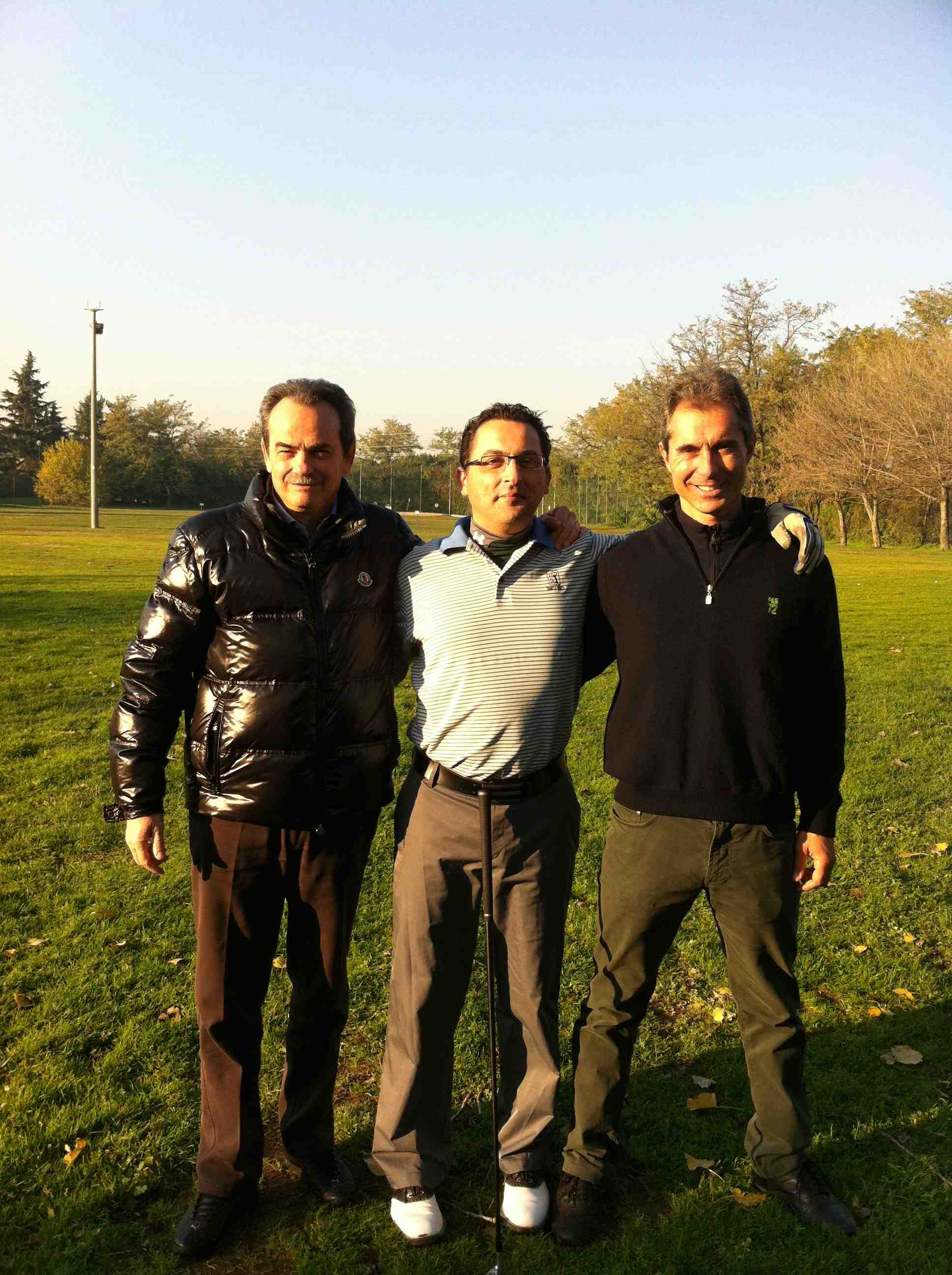 Con Gianmarco Coce maestro di Golf a Lainate con Angelo Ardissone al Golf Green Club di Lainate