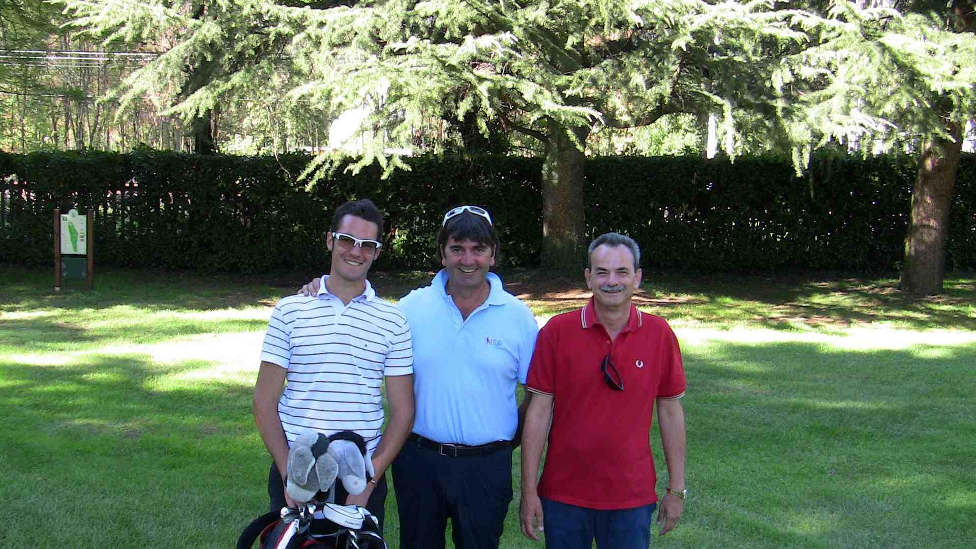 Golf in campo a Milano nel 2012, con il maestro Andrea Calcari