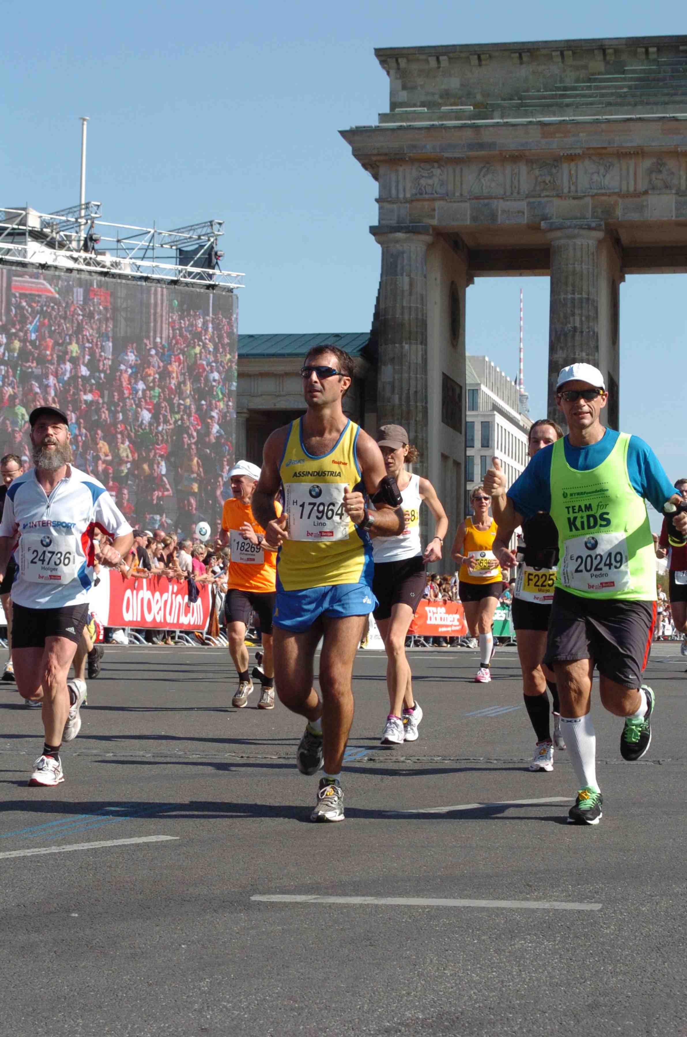 Poi alla ricerca del risultato alla maratona di Berlino