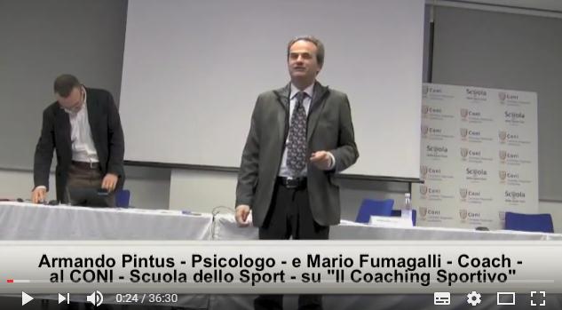 """Armando Pintus e Mario Fumagalli parlano alla SCUOLA DELLO SPORT CONI sul """"Coaching Sportivo"""""""