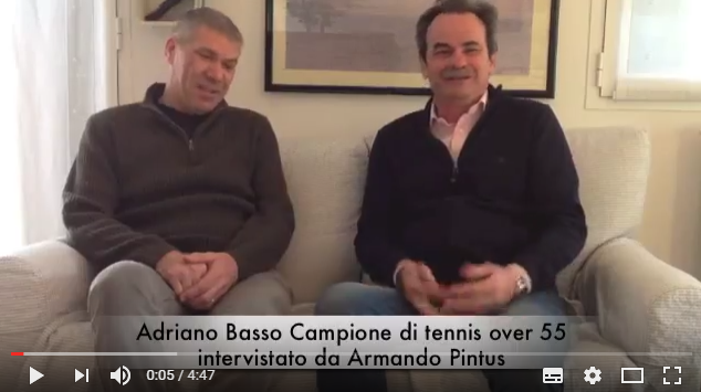 Adriano Basso grande pluri-campione di tennis con Armando Pintus Coach Psicologo