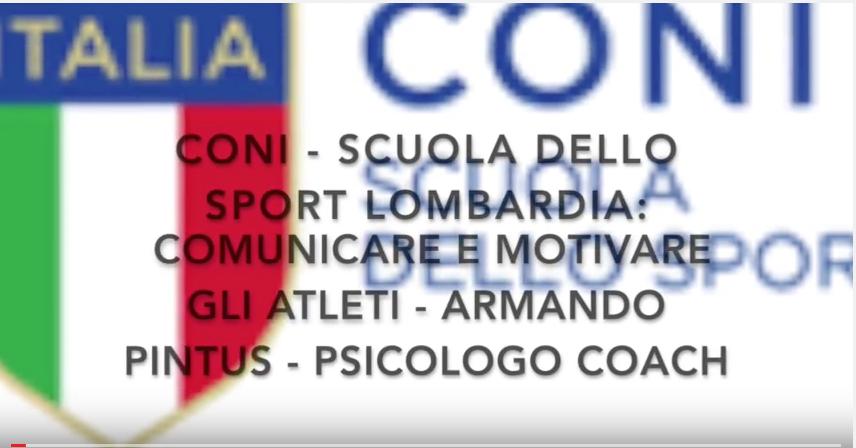 Formazione per Allenatori CONI su: Comunicare e motivare con successo gli atleti