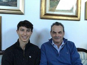 Con il giovane giocatore di golf Julien Paltrinieri
