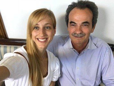 Con Virna Toppi prima ballerina del corpo di ballo del Teatro Alla Scala di Milano